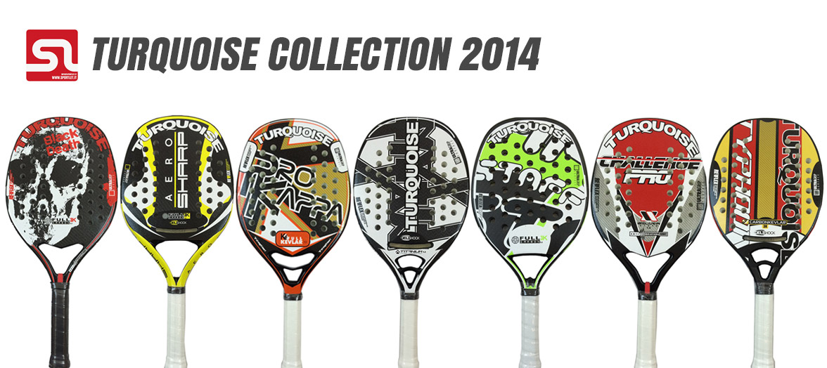 Turquoise Beach Tennis Rackets 2014