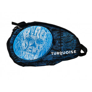 Borsone Beach Tennis Turquoise SUPER PRO BAG BLACK DEATH BLU 2019